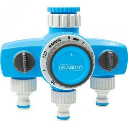 Časovač AQUACRAFT® 290030, mechanický, 3-rozbočovač, max. 120 min