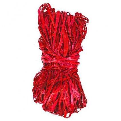 Lyko Raphia Nature, 50 g, červené
