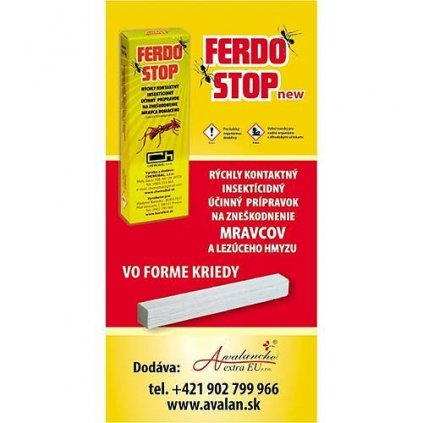 FerdoStop®, krieda proti mravcom a plošticiam
