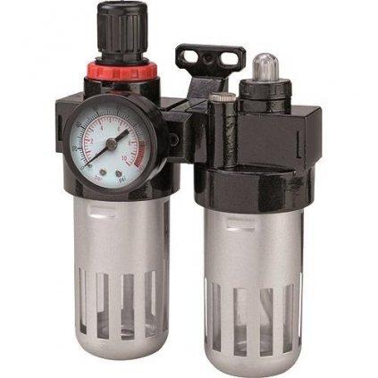 """Filter Airtool MF-3, vzduchový, na kompresor, s regulátorom a tlakomerom, 1/4"""""""