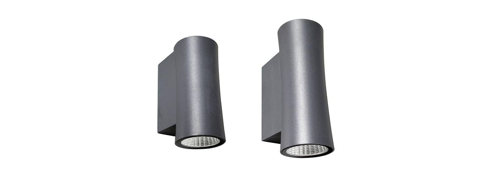 MONOLUME & BILUME nástěnná LED svítidla s přímým nebo přímo/nepřímým vyzařováním