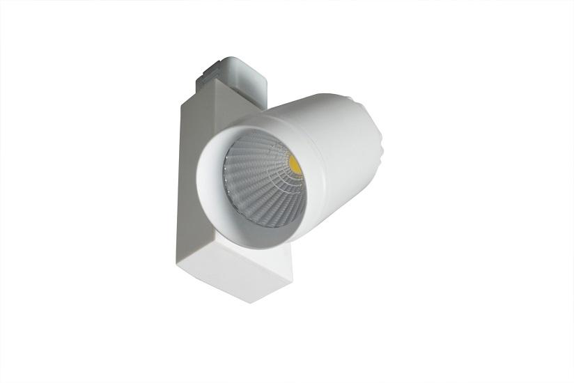 TREK LED 1-F reflektor TREK s  adaptérem do jednookruhové lišty v barvě bílé a černé.