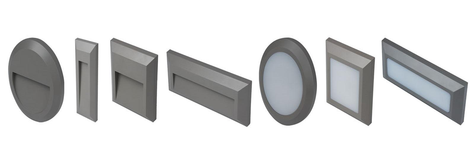 TWILIGHT LED Venkovní nástěnná přisazená orientační LED svítidla v různých tvarech