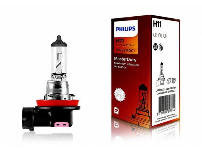 žárovka H11 24V 70W PGJ 19 2 MasterDuty PHILIPS