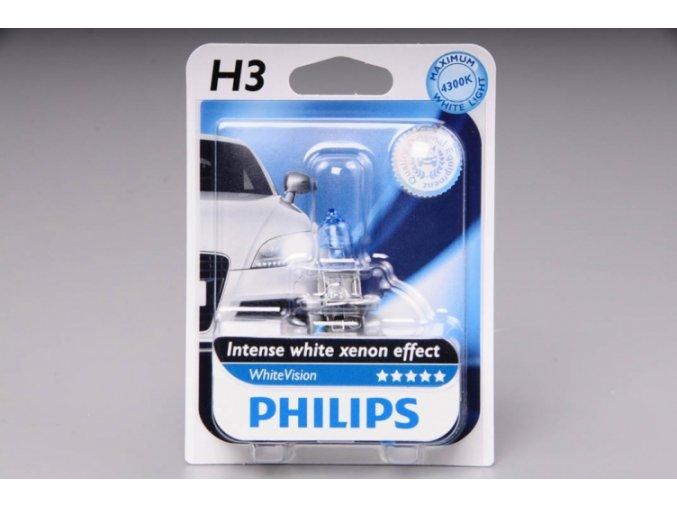 blistr H3 12V 55W PK22s WhiteVision PHILIPS