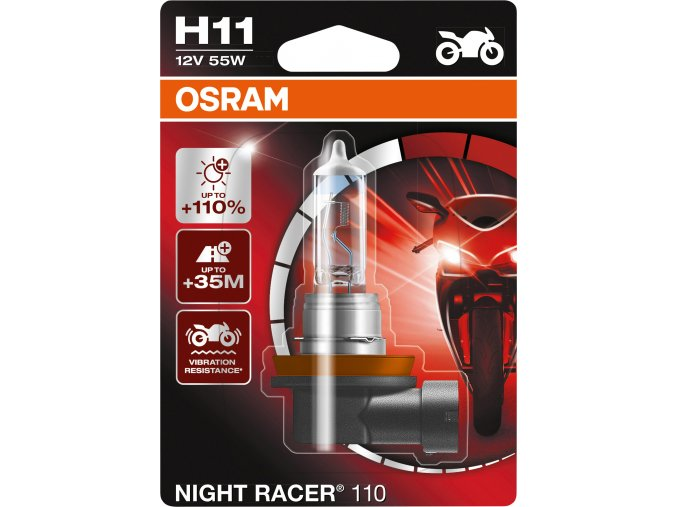 Žárovka H11 12V 55W PGJ 19-2 NIGHT RACER 110 OSRAM