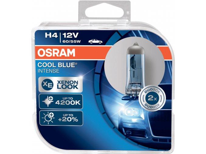 Žárovka H4 12V 60/55W P43t COOL BLUE Intense OSRAM