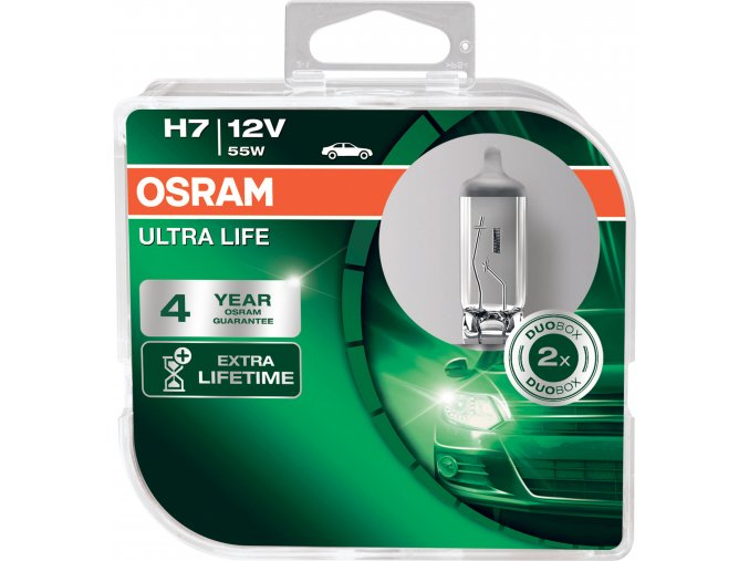 Žárovka H7 12V 55W PX26d ULTRA LIFE OSRAM