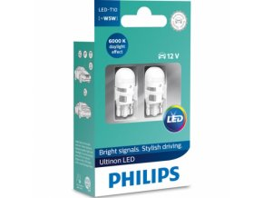 2ks LED 12V W2,1x9,5d PHILIPS ULTINON 6000K