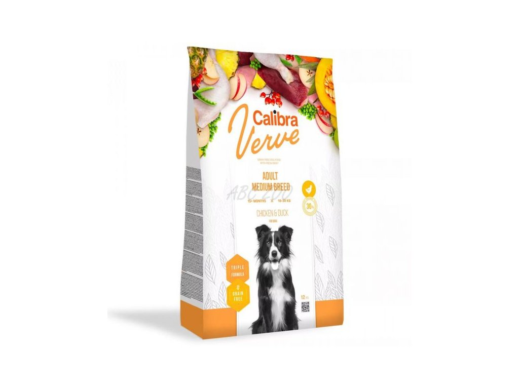 calibra dog verve gf adult medium chicken duck 12 kg