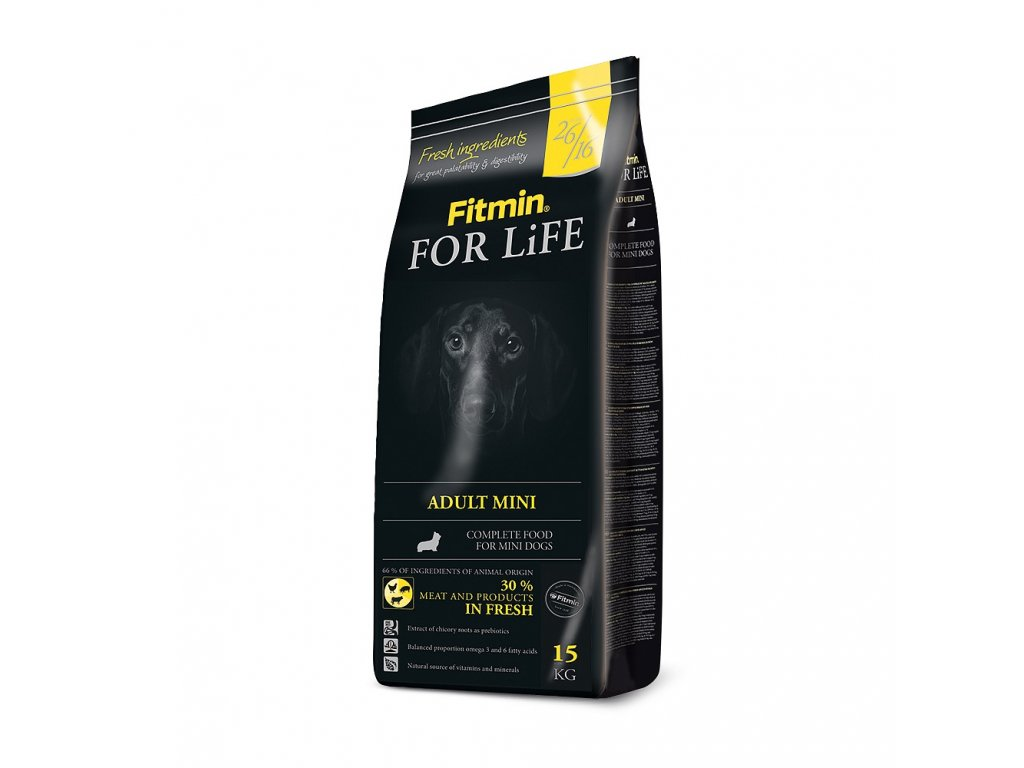 fitmin dog for life adult mini 15 kg h L