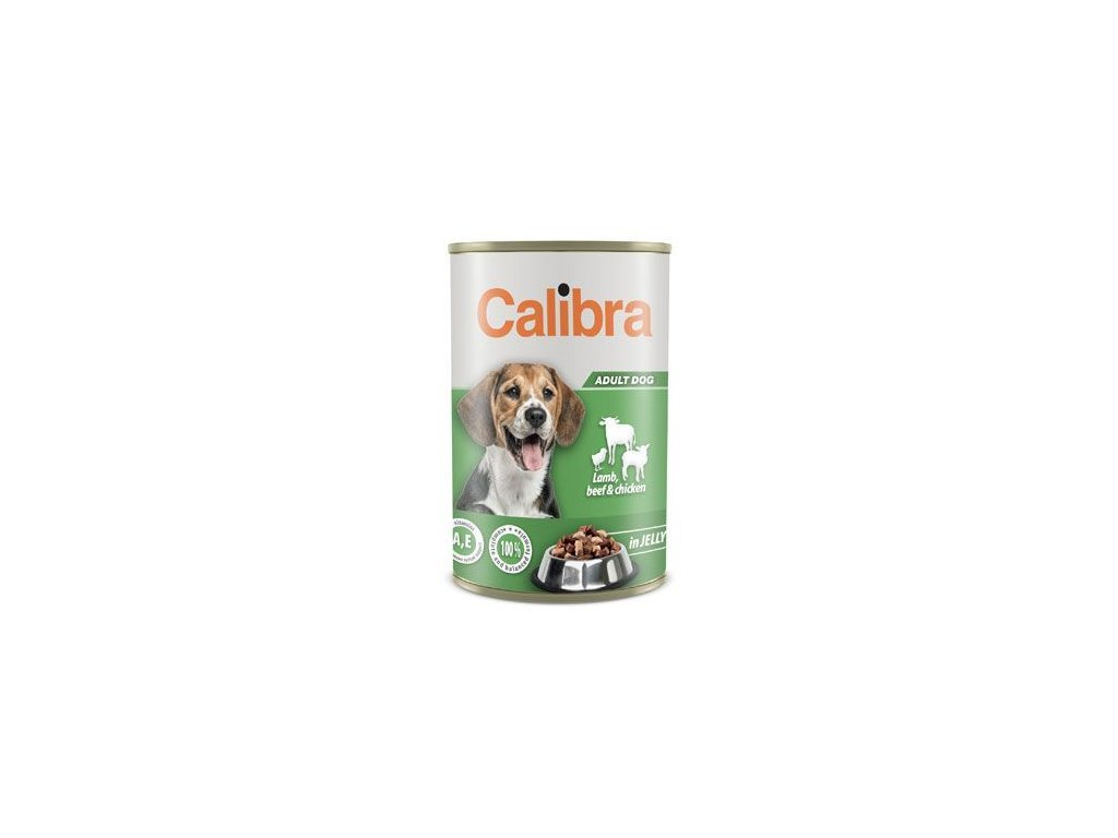 124305 calibra dog konz lamb beef chick in jelly 1240g new