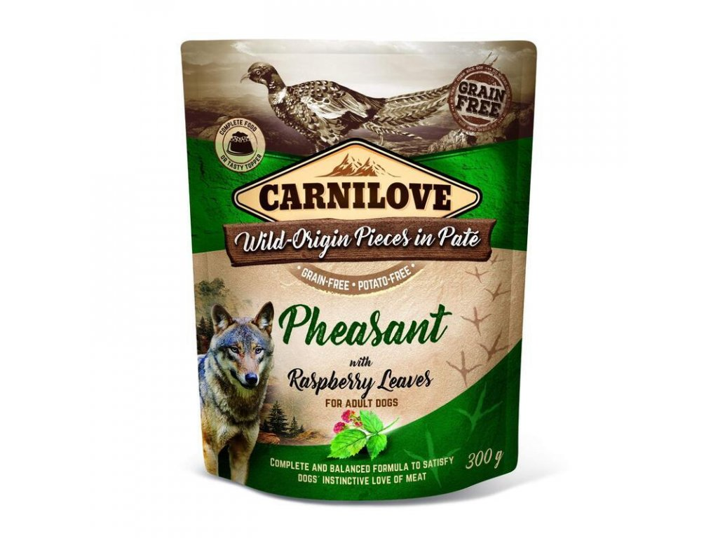 3d 18220 cl wetfood dog 300g pouche pheasant new z1