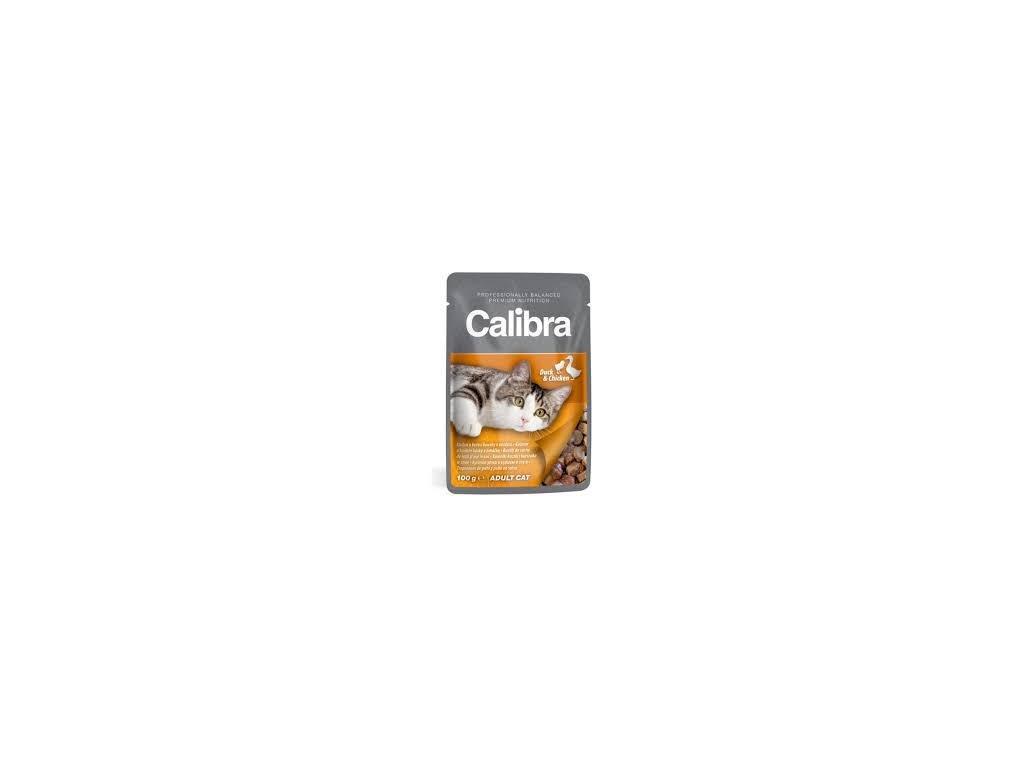 Calibra Cat kapsa kachní a kuřecí v omáčce 100g