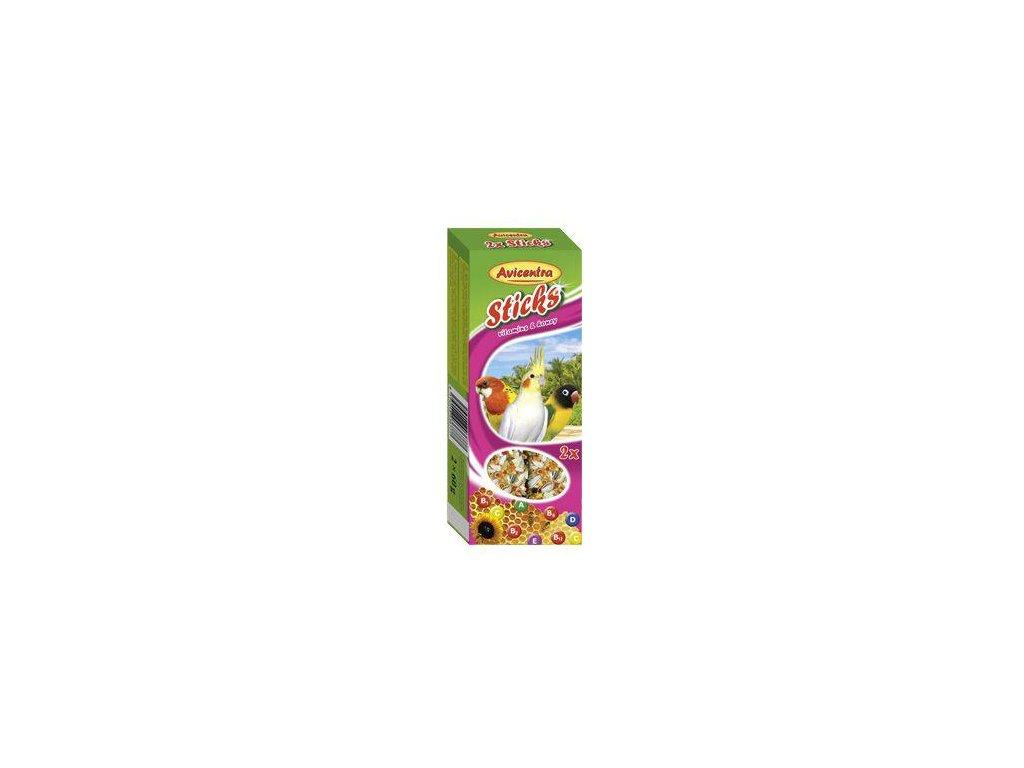 Avicentra tyčinky malý papoušek - vitamíny+med 2 ks