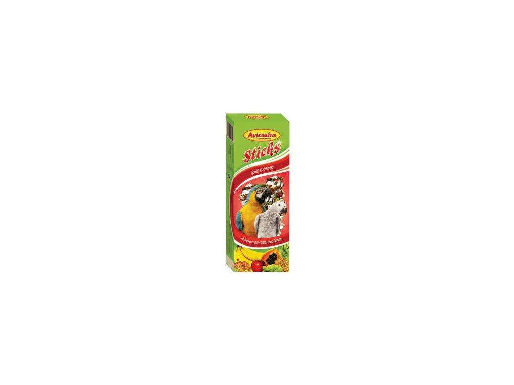 Avicentra tyčinky velký papoušek - ovoce+med 2 ks