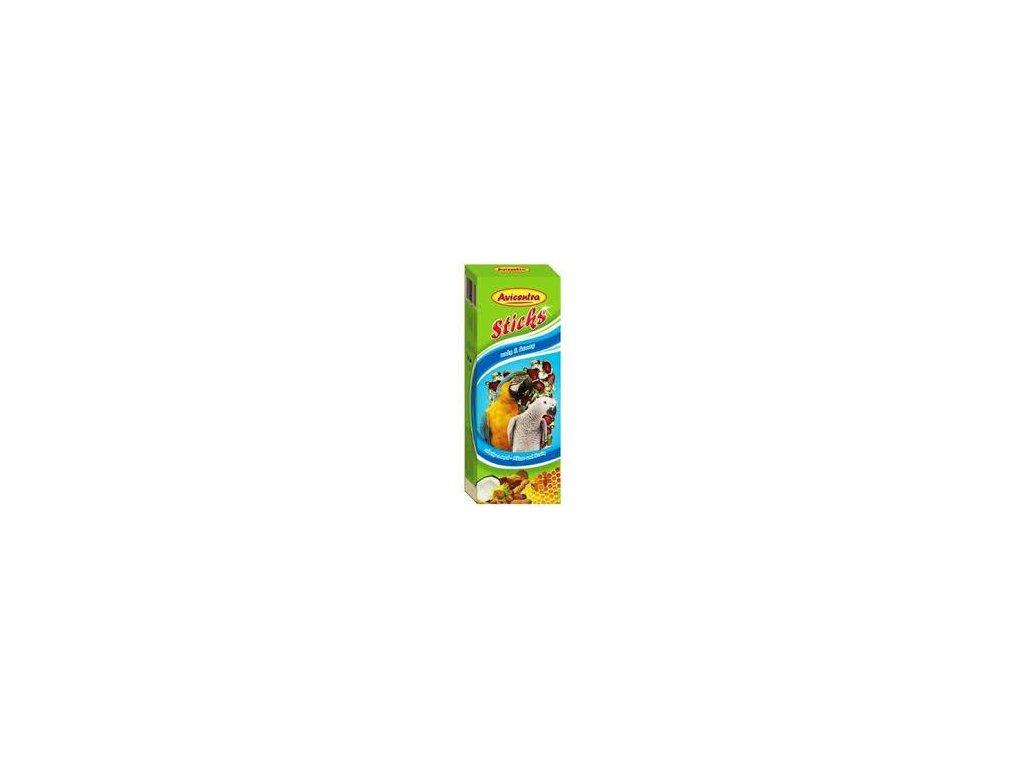 Avicentra tyčinky velký papoušek - ořech+kokos 2 ks