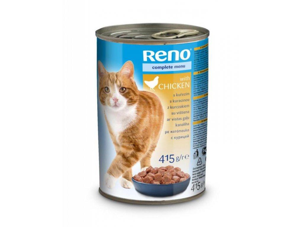 Reno CAT kousky kuřecí 415 g