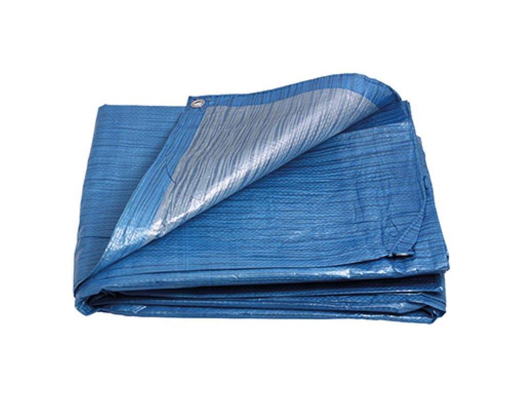 Plachta zakrývací STANDARD, 5 x 6 m, modro - stříbrná, ENPRO