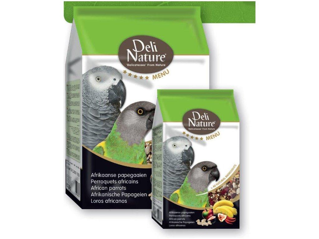 Deli Nature 5*menu African Parrots 800 g