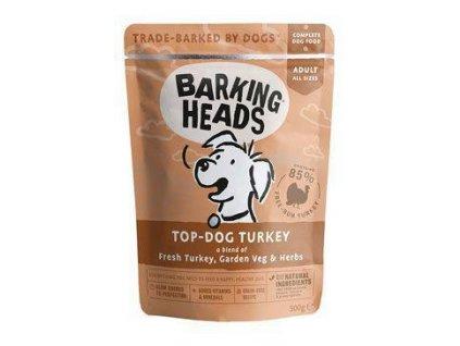 BARKING HEADS Top-Dog Turkey kapsička NEW 300g