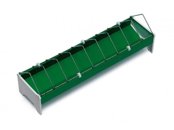 Žlabové krmítko pro slepice - drůbež 13x75cm, široké otvory, plastové