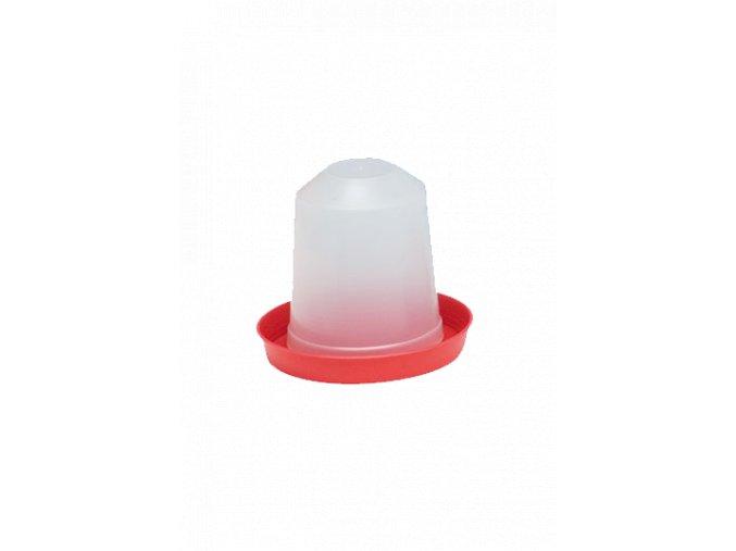 Klobouková napaječka pro kuřata - drůbež, 1,5l, plastová