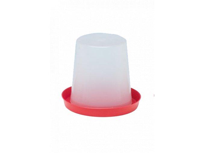 Klobouková napaječka pro kuřata - drůbež, 5l, ploché víko, plastová