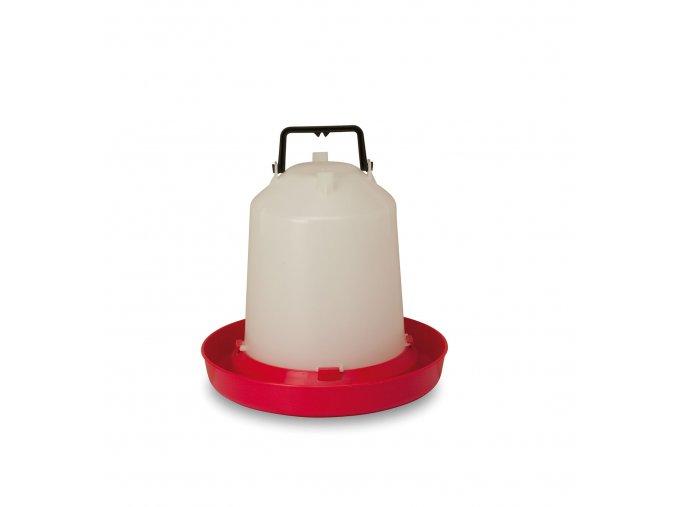 Závěsná klobouková napaječka pro slepice - drůbež, 5l, plastová