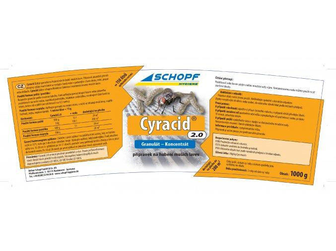 Insekticid k hubení muších larev s dlouhodobým účinkem Cyracid2.0, 1kg