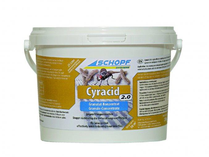 Insekticid k hubení muších larev s dlouhodobým účinkem Cyracid2.0, 5kg