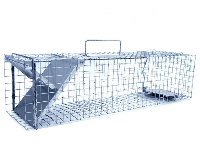 Drátěné pasti na potkany a krysy, lasičky, norky a malé kuny ZL62x21x21 - neprůchozí jednostranné sklopce s rychlou záklopkou