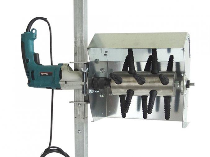 Škubačka drůbeže na vrtačku ve stojanu s ochranným krytem SPIUMATRICE DIT SP RU08 vrtačka není součástí balení