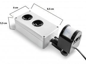 Vodotěsný, ultrazvukový plašič na kuny, myši a potkany DRAGON ULTRASONIC E250 p1