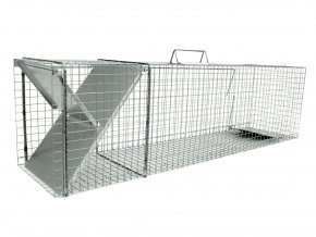 Sklopec pro kuny, norky, tchoře, kočky a malé lišky ZL102x29x32 - účinná past s jedním vstupem a nášlapnou záklopkou