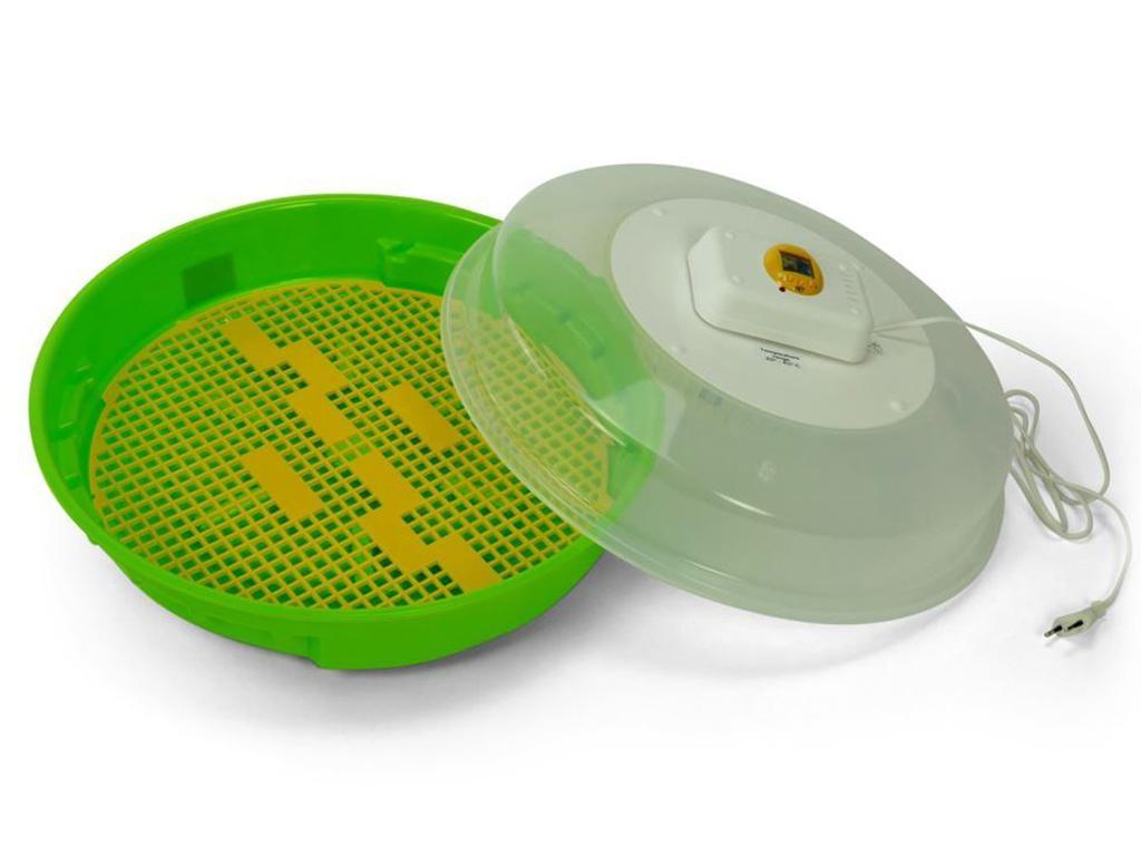PUISOR EXOTIC IO-202 - ruční otáčení vajec, nastavení teploty inkubace, s teploměrem a s vlhkoměrem