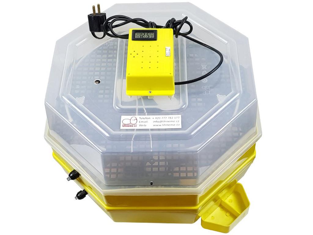 Líheň CLEO 5x2 DTH - poloautomatické otáčení vajec, rozšířená kapacita, s teploměrem a s vlhkoměrem