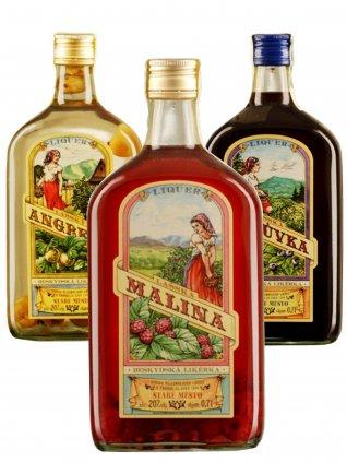 Balíček ovocných likérů Beskydské likérky