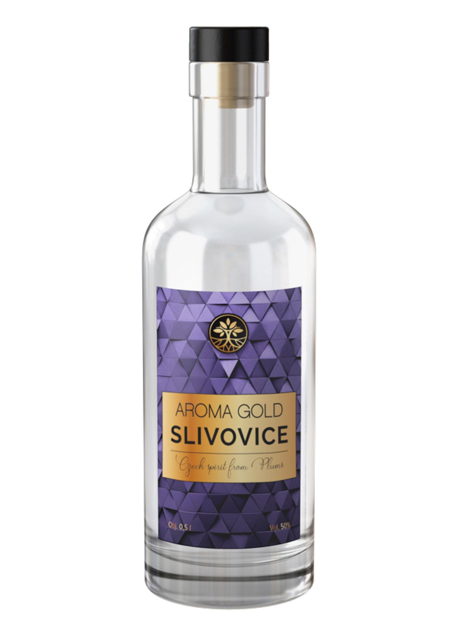 Levně Aroma Gold Slivovice 50% 0,5l