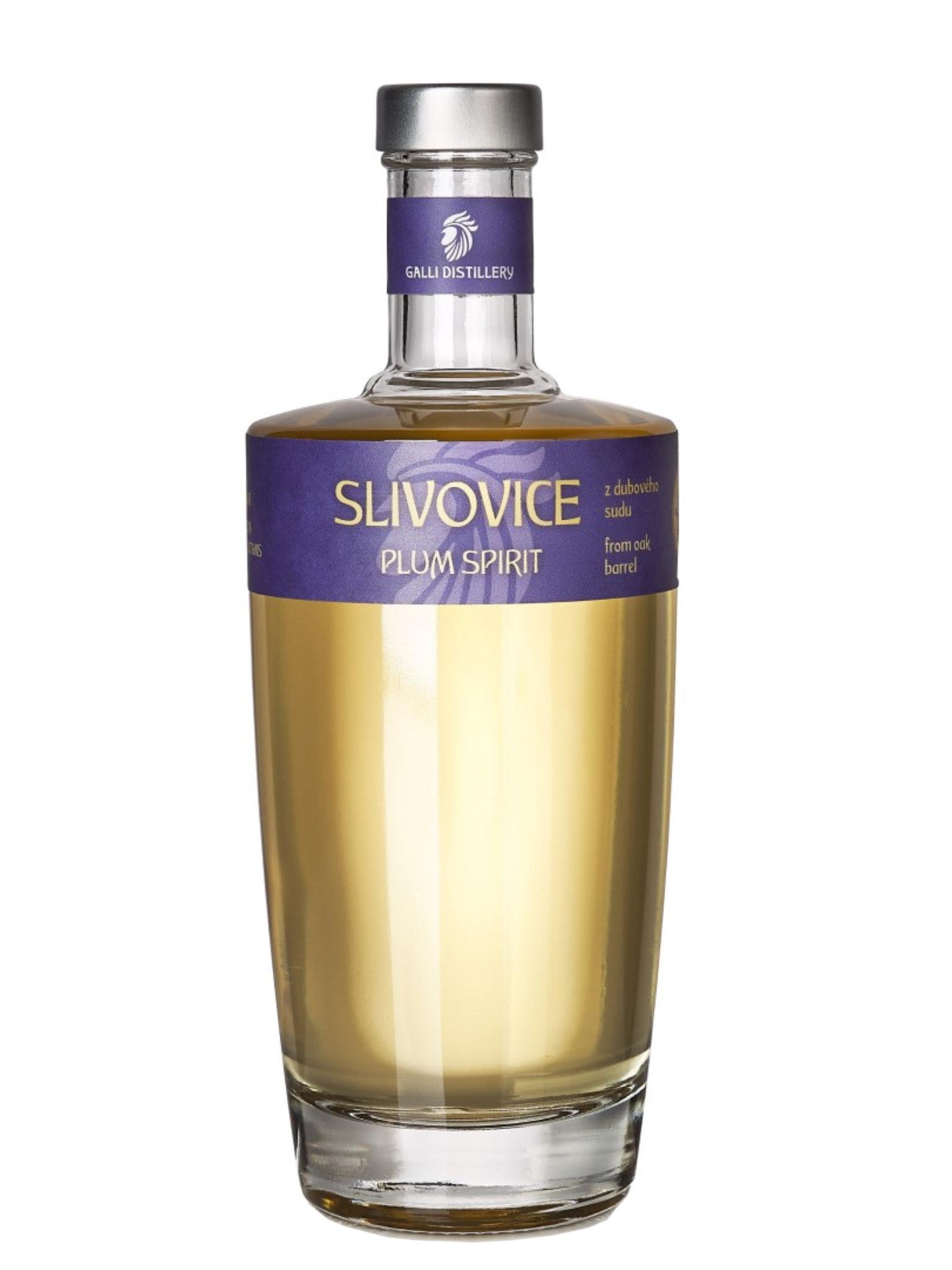 Levně GALLI DISTILLERY Galli Slivovice z dubového sudu 45% 0,5l