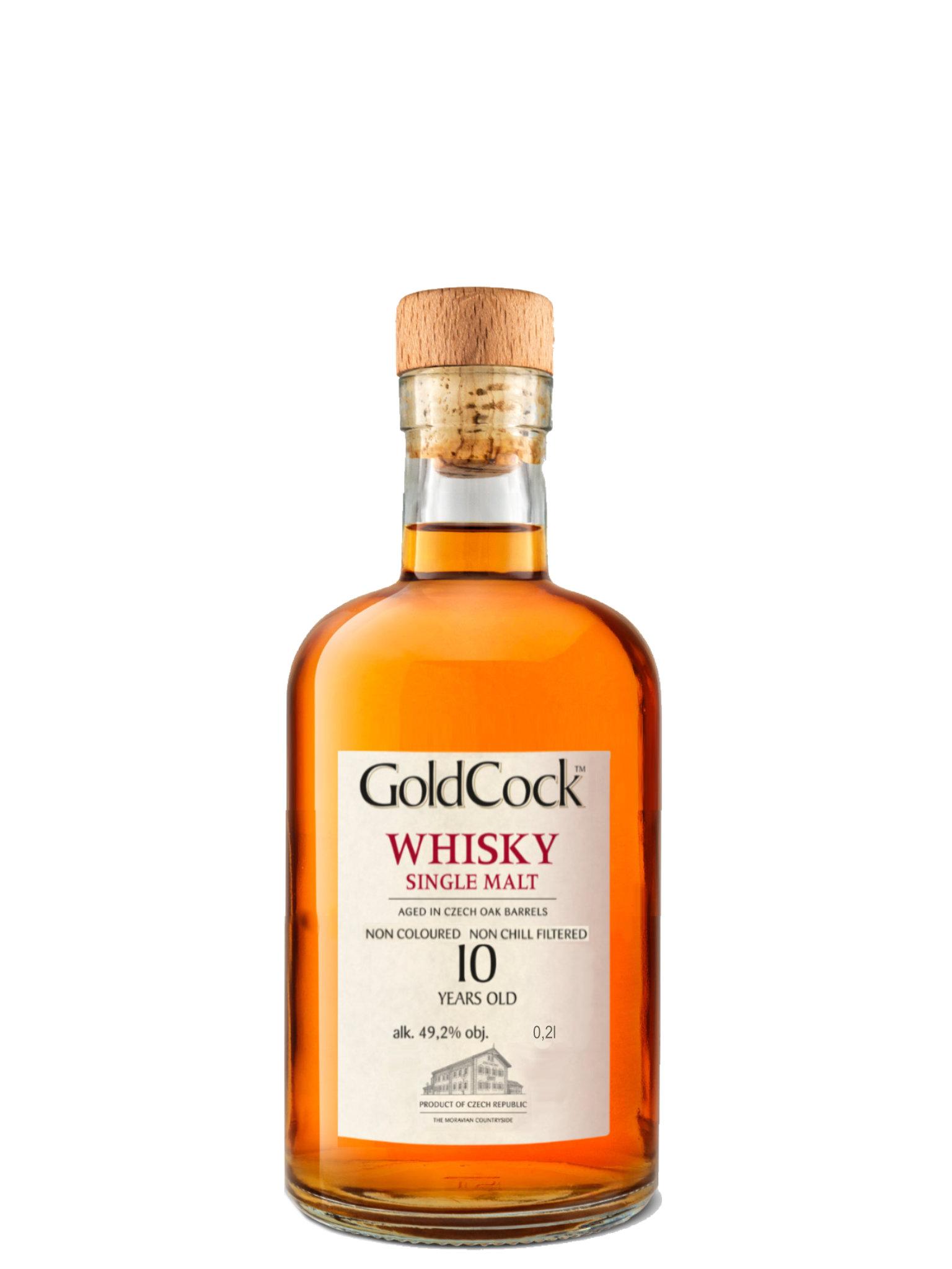 Levně Gold Cock Whisky Gold Cock 10 YO 49,2% 0,2l