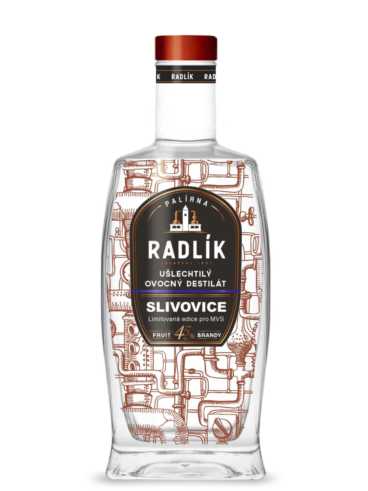 Levně Palírna Radlík Radlík Slivovice (Karlátka) 45% 0,5l