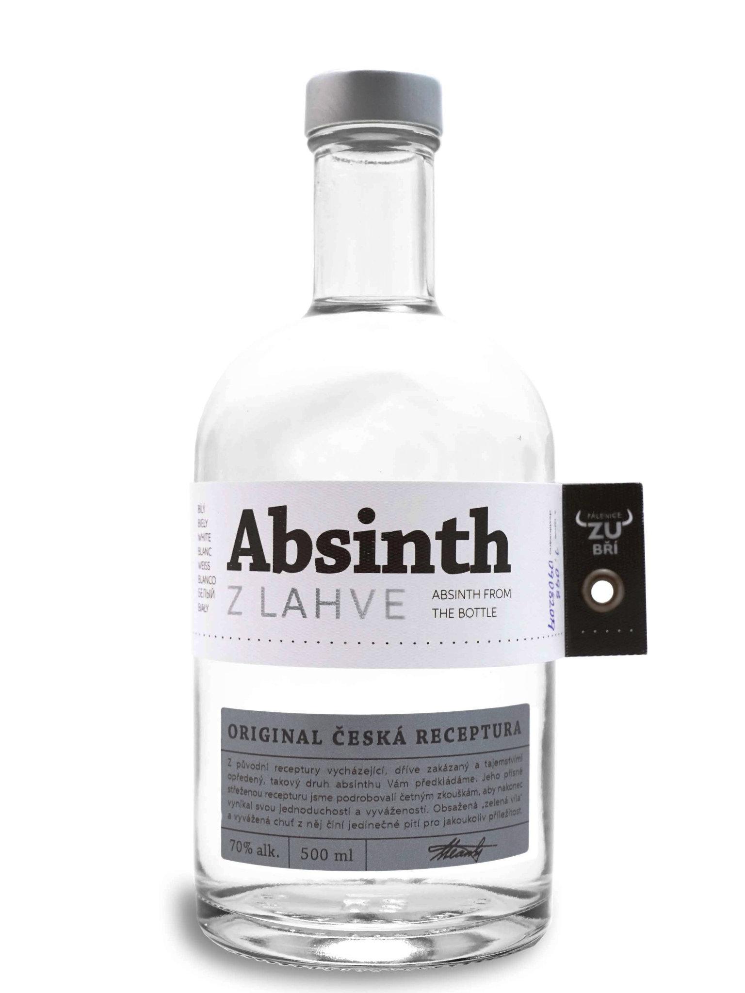 Levně Pálenice Zubří Zubří Absinthe z lahve 70% 0,5l