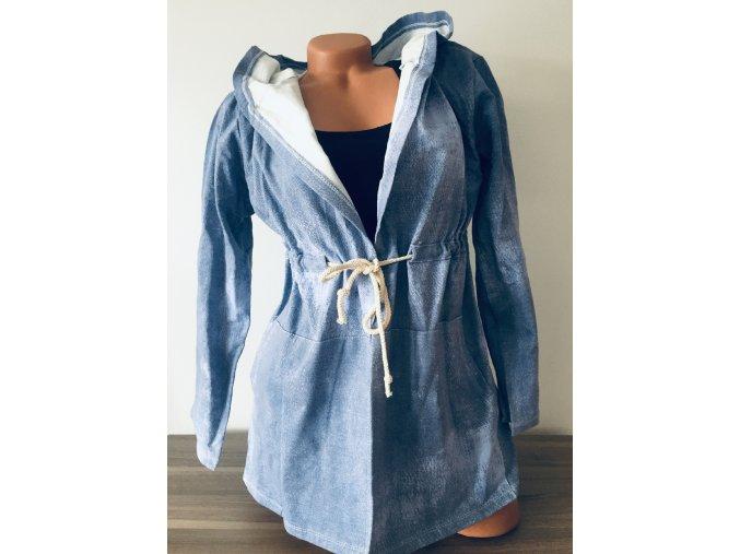 Lehký kabátek/prodloužené sako s kapucí