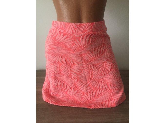 Barevná vzorovaná sukně Bershka, velikost XS