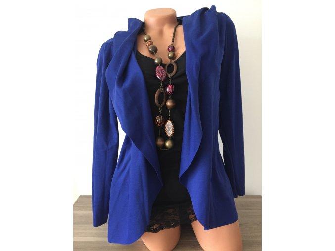 Lehký modrý cardigan s kapucí