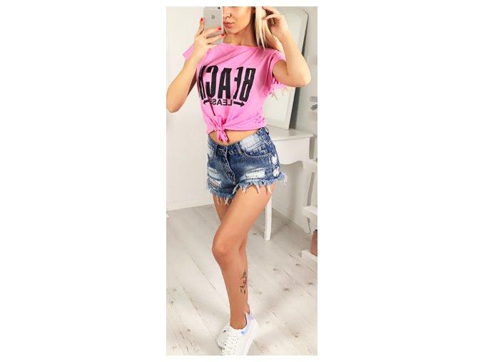 triko růžové