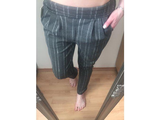Šedé proužkované kalhoty Line Italy