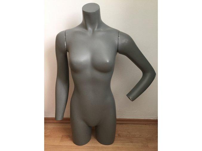 Dámská figurína/bysta s rukami,šedá barva