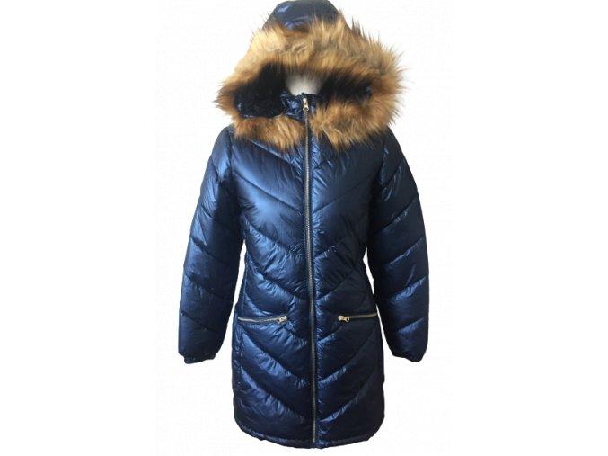 Primigi Dívčí temně modrá zimní prodloužená bunda/kabátek, velikost 164 cm